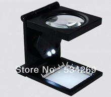 10X Three Fold Fabric Magnifiers with Light and Ticks