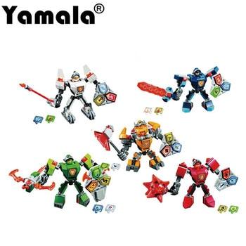[Yamala] Nexo Knights Future Shield Super Hero Castle Warrior Nexus Blocks Avengers Iron Man Batman knight Compatible LegoINGlys скуби ду лего