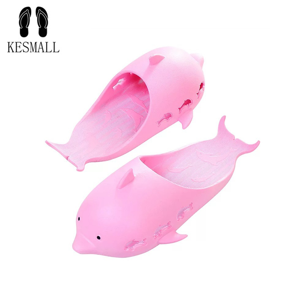 KESMALL Animal Dolphin Slippers For Women Summer Sandals Flip Flops Beach Shoes Outside Funny Bathroom Floor Home slippers WS434KESMALL Animal Dolphin Slippers For Women Summer Sandals Flip Flops Beach Shoes Outside Funny Bathroom Floor Home slippers WS434