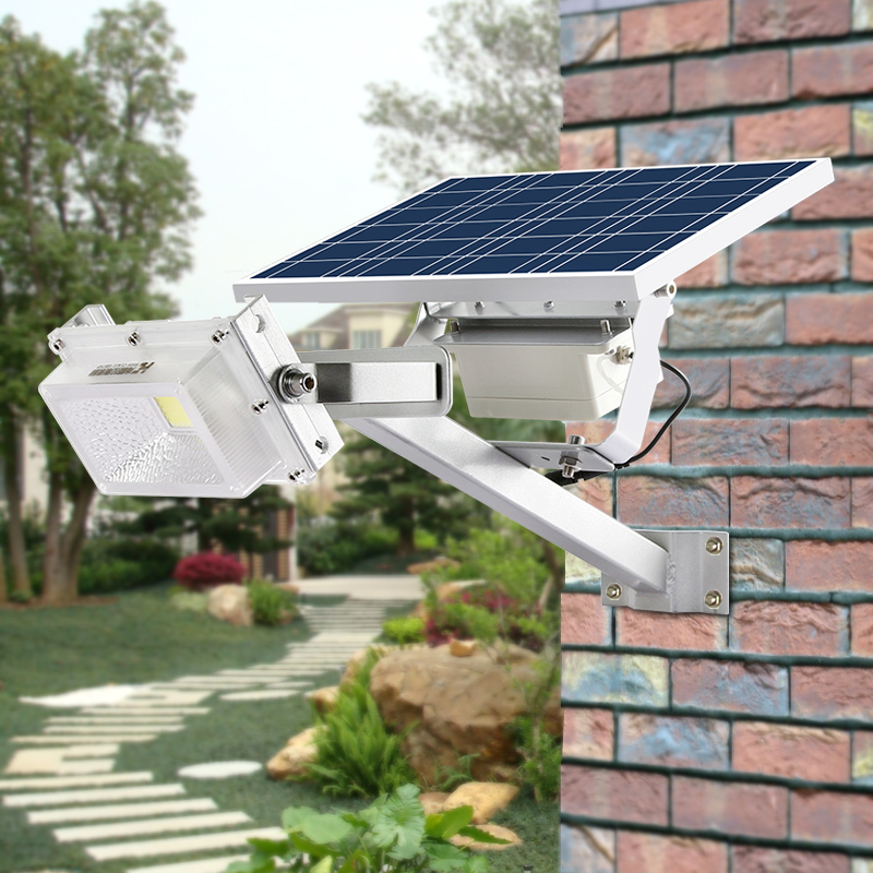 Outdoor IP65 Waterproof 10W 15W Time Control Microwave Motion Sensor Flood Light Solar Street Light Garden Backyard Lamp