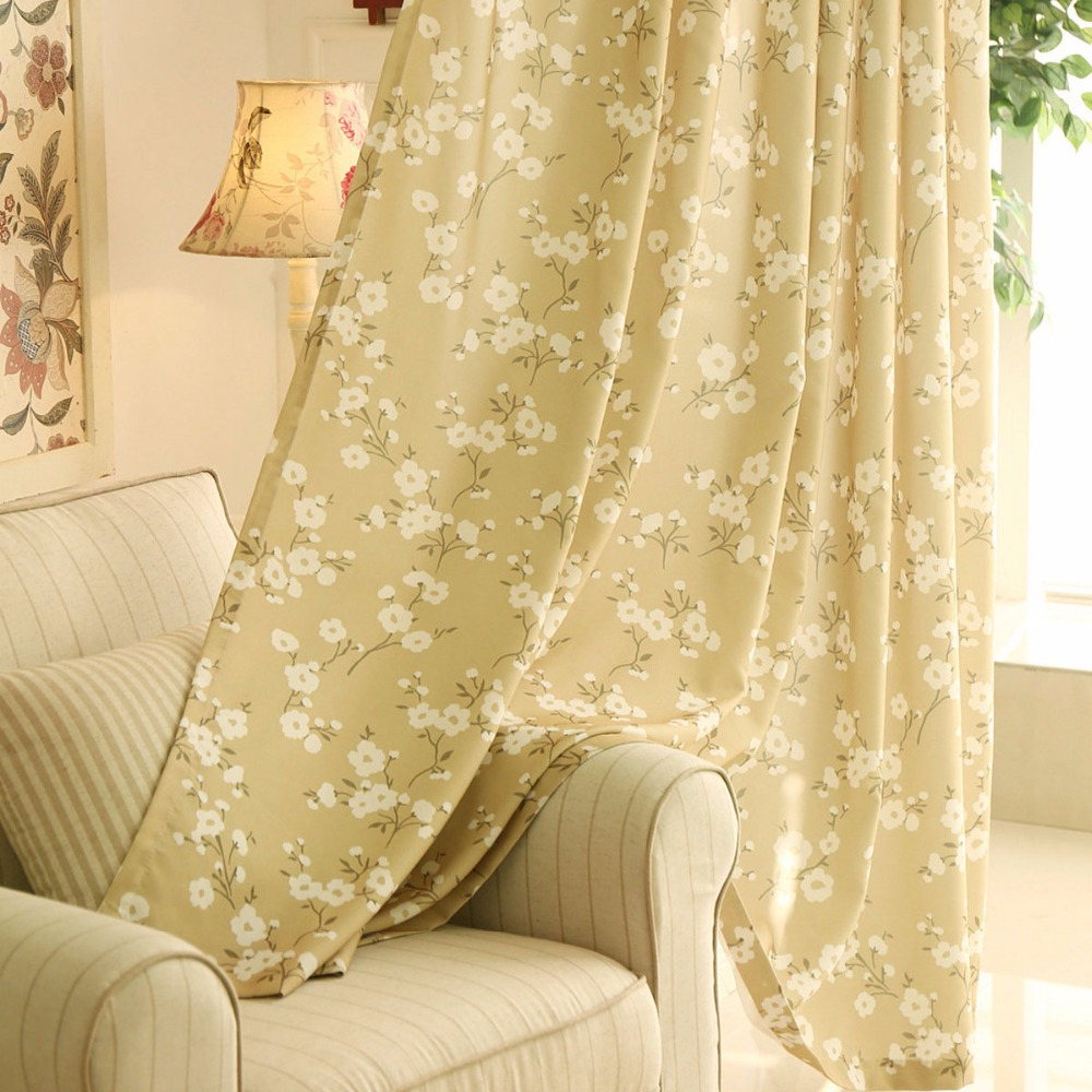 Window Curtains For Kitchen Living Room Bedroom Floral