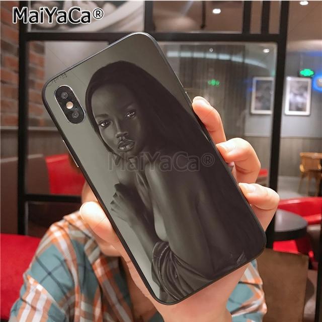 POINTE-NOIRE Femme noire de Bande Dessinée Coque Shell Cas de Téléphone pour Apple iPhone 8 7 6 6 s Plus X Xs Xr xs max 5 5S SE 5C Couverture 1