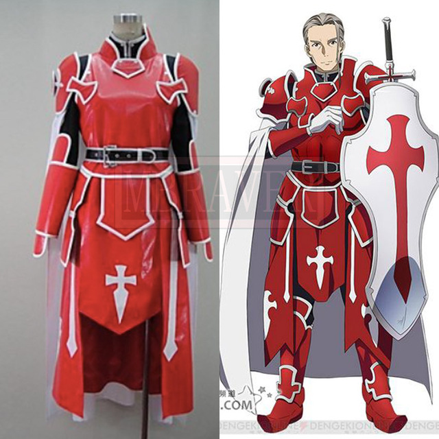 Sword Art Online Knights of the Blood Oath Heathcliff Cosplay Costume  sc 1 st  AliExpress.com & Sword Art Online Knights of the Blood Oath Heathcliff Cosplay ...