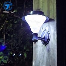 Transcego – panneau solaire imperméable à 24 °, éclairage d'extérieur, applique murale, idéal pour un jardin, une rue, une pelouse ou une véranda