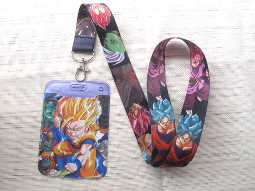 1 pcs Dragon Ball Z Goku <font><b>Sayajins</b></font> Maste Named Card Holder with Lanyard Neck Strap Card Bus ID Holders With Key Chain M06 image
