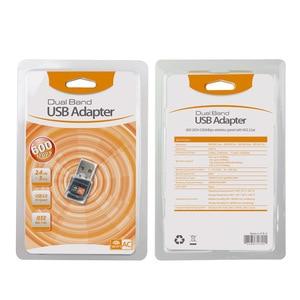 Image 5 - 無線 Lan 信号受信機の usb ワイヤレスネットワークカード 600Mps デュアルバンドノートブックアダプタトランスミッタ usb ネットワークアダプタ無線 lan カード