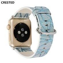 все цены на Lerxiuer genuine leather strap For Apple Watch band 42mm/38MM iwatch series 3 2 1 wrist band bracelet replacement watchband belt онлайн