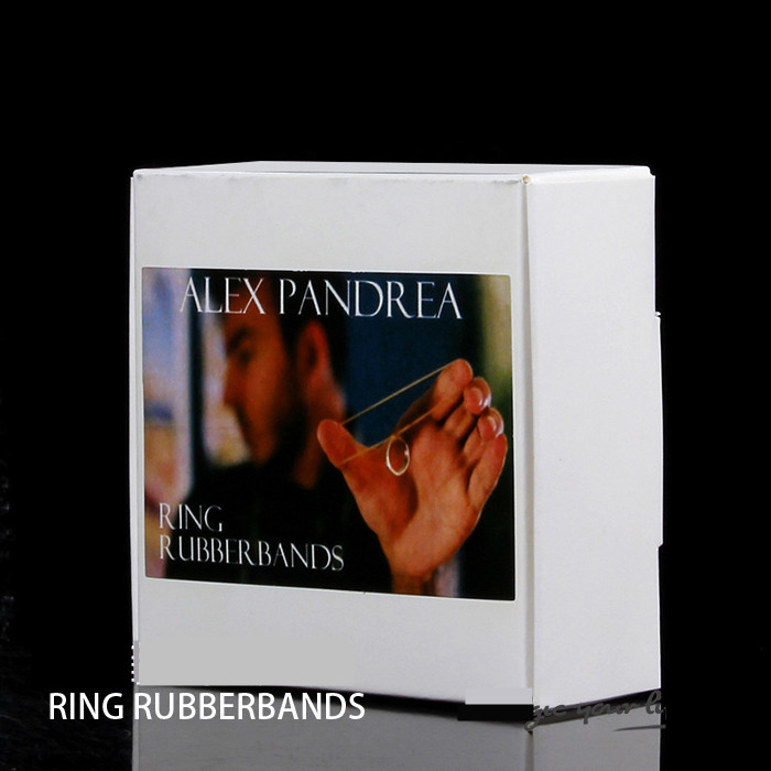 Ring Rubber Bands (G RING),close up magic tricks,illusion,card magic,fun,mentalism,stage,street magic