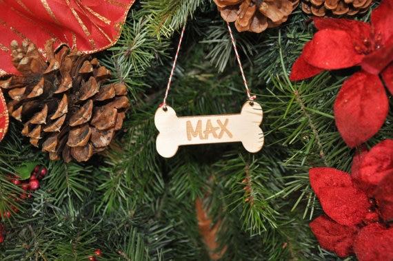 Dog Bone Christmas Stocking.Us 7 64 15 Off Dog Christmas Ornaments Personalized Engraved Dog Bone Christmas Tree Ornament Puppy 1st Christmas Dog Christmas Stocking Tag In