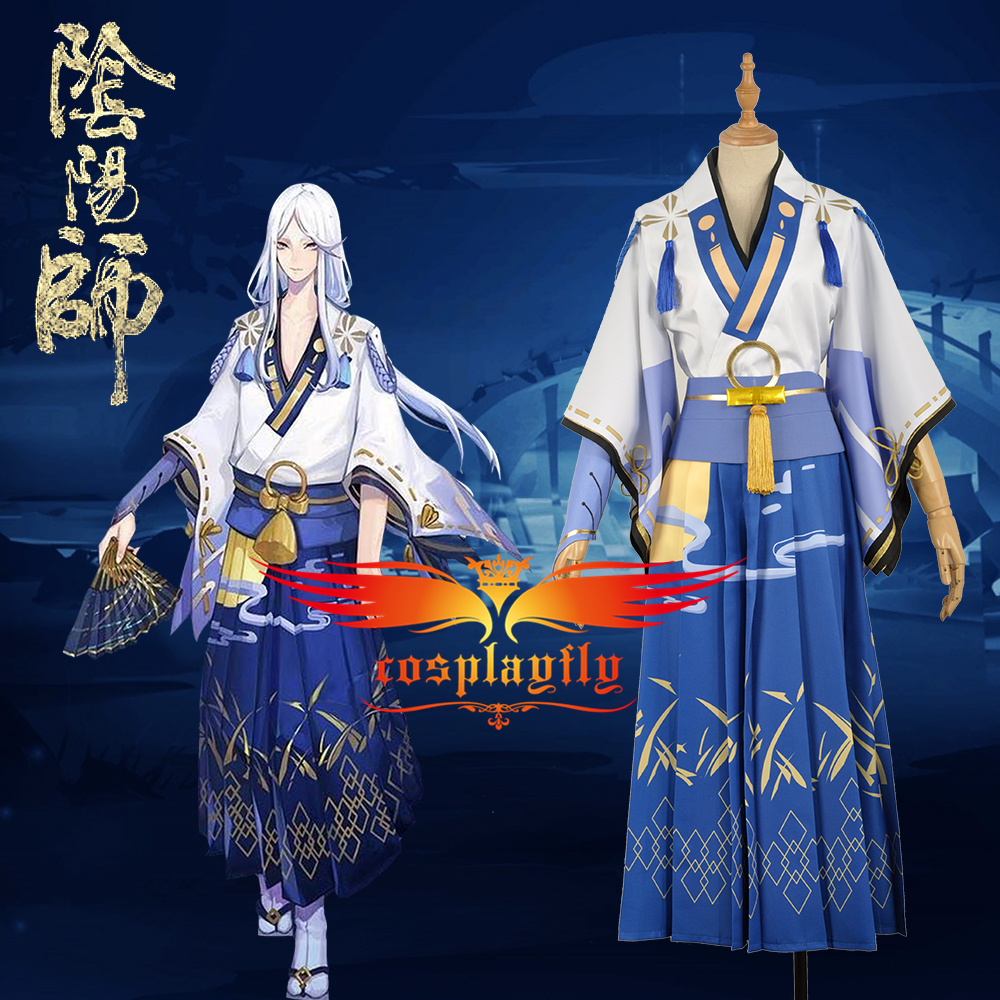 Onmyoji Cos Summer Festivity Seimei Moonlight Fancy Kimono Clothing Outfit Cosplay Costume For Adult W1228