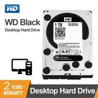 WD оригинальный черный 1 ТБ 3,5 дюймов HDD высокой производительности жесткий диск настольного компьютера диск-7200 об/мин SATA 6 ГБ/сек. 64 Мб Кэш...