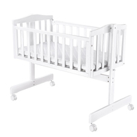 Crib European solid wood baby shaker newborn cradle bed multi function BB bed with mosquito net