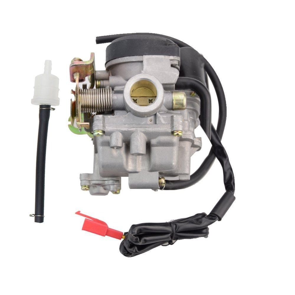 GOOFIT PD18J Carburetor 18mm Carb for Scooter GY6 50cc 49cc 60cc Chinese 139qmb Moped 49cc 60cc Carburettor N090-073-1 goofit twin carburetor double carburettor cylinder carb chamber 250cc rebel cmx 250cc cmx250 ca250 cbt250 n090 050