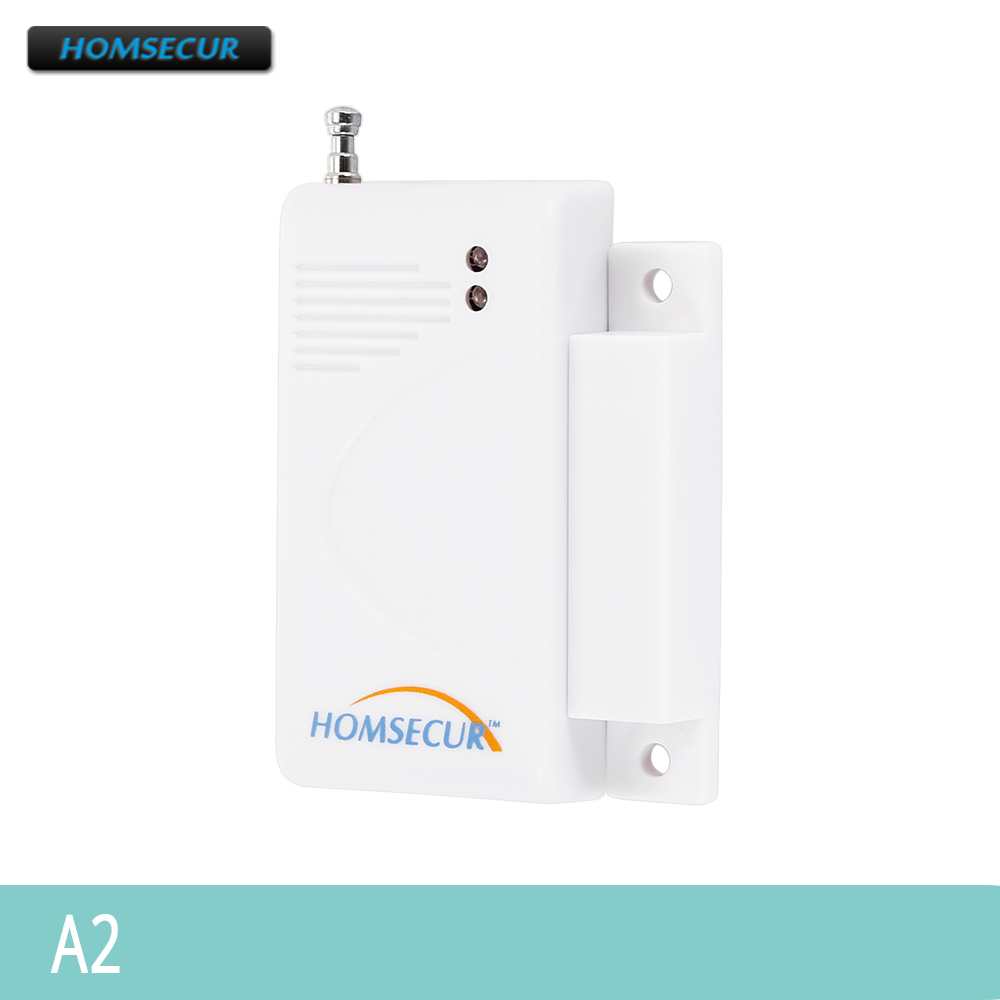 HOMSECUR A2 Wireless Door/Window Sensor For Our 433Mhz 4G/3G/GSM/PSTN Alarm System