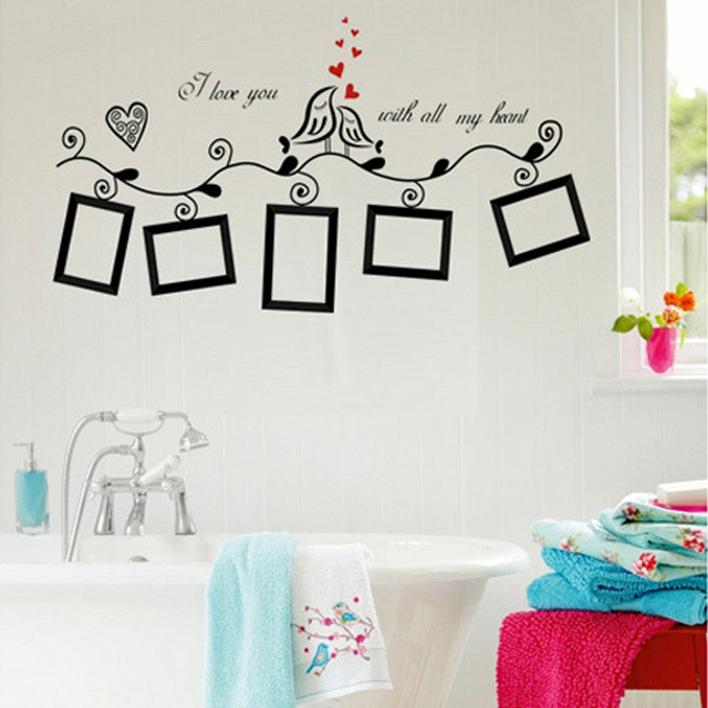 Photos Pictures Frames Loving Birds Wall Stickers Bedroom Decoration ...