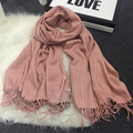 Brand Winter Female Scarf Solid Pashmina woman cashmere wool scarf Hot Sale ponchos  capes warm wrap scarves luxury femme A 95