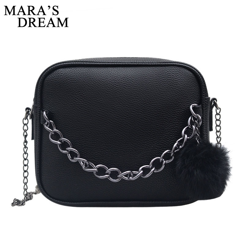 Mara's Dream 2019 Small Chain Women Bag Women Leather Handbag Women Messenger Bags PU Shoulder Crossbody Bag Ball Toy Bolsa