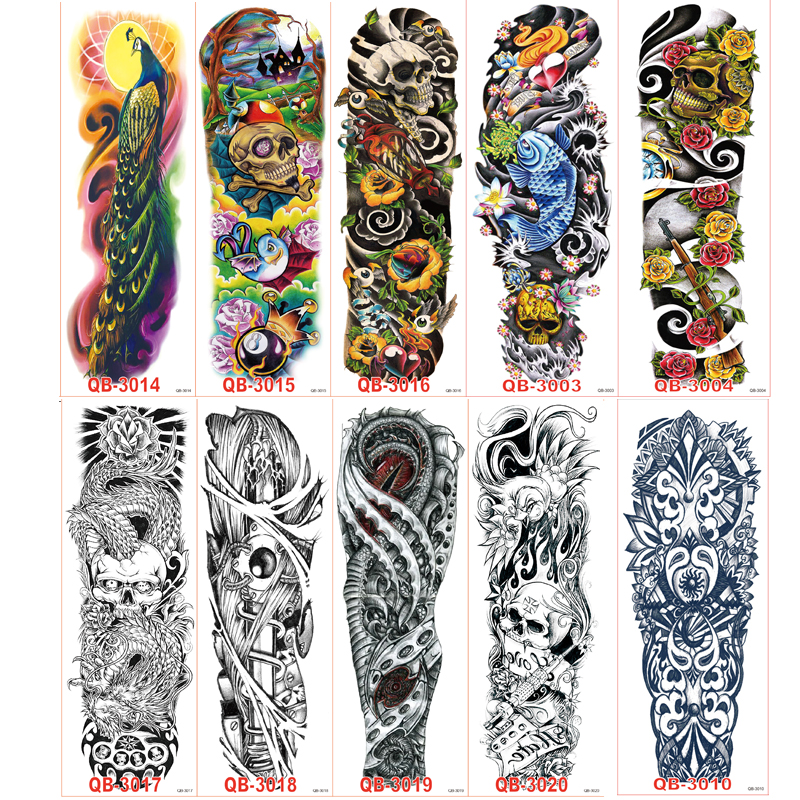 100pcs lot large big temporary tattoos stickers full arm for Wholesale temporary tattoos