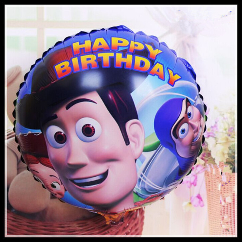 50pcs/lot Boy Balloons Happy Birthday Balloons Gift Party Supply 45*45cm Wholesa