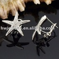 925 jóias de prata banhado Jóias Brinco de Belas Moda Bonito Separações Starfish Brinco Top Quality