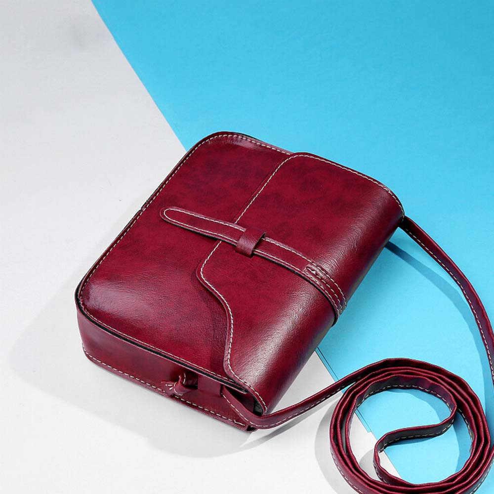 多色シンプルなヴィンテージ財布バッグの女性の革ハンドバッグクロスボディショルダーバッグ女性のメッセンジャーバッグ bolsas mujer 女性