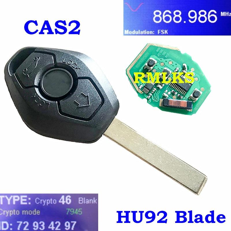 Keyecu Uncut Remote Key Fob 315LP MHz ID7944 Chip for BMW 1 3 5 6 Series X5 CAS2 System HU92