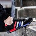 2016 Весна Марка Мужчины Обувь Повседневная зашнуровать Обувь Холст моды для Мужчин Плоские Туфли Низкие Дышащие Замши Классические Случайные Люди обувь