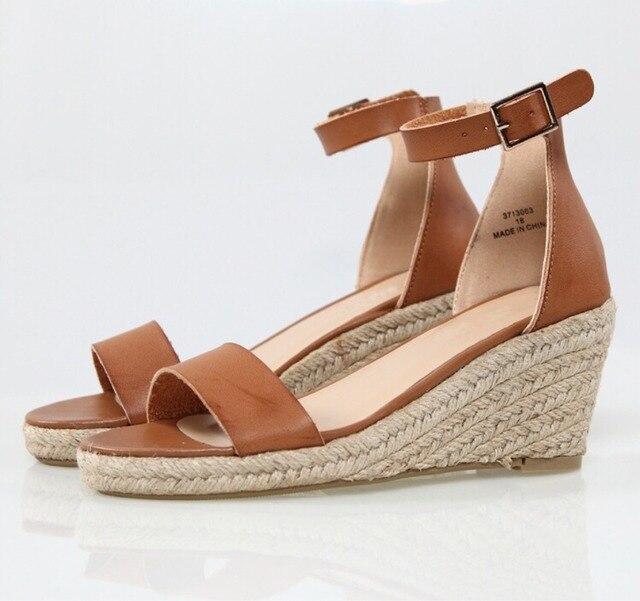98a2890670b0 MONMOIRA Espadrilles Wedges Peep Toe Solid Platform Sandals Women One Strap High  Heel Sandals Women Summer
