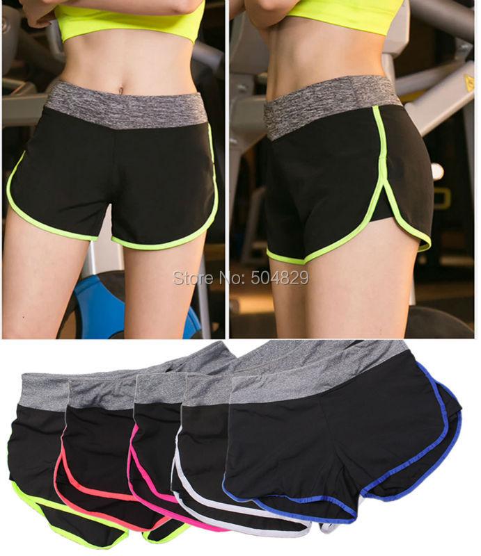 Wholesale 100 Pcs/lot Women Running Sport Yoga Shorts