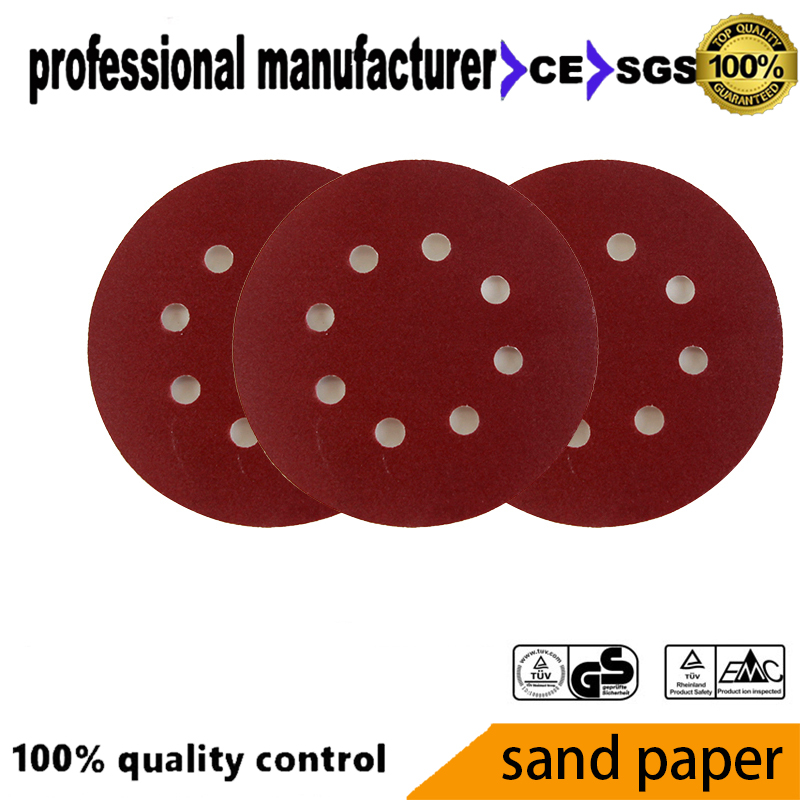 Aluminum Oxide Abrasive Sanding Paper 5inch 125mm For Polishing Tool For Wall Polishing Wood Polishing