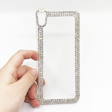 Diamond Rhinestone Phone Cases For Sony Xperia XA F3111 F3113 F3115 3D Fashion Hard Plastic Back Cover Fundas