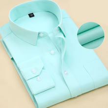 Men Long Sleeve Shirt Spring New Brand Solid Color Business Office Formal Men Dress Shirt Plus Size Male Shirt Chemise