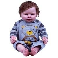 Куклы реборн Полный Силиконовые Винил Тела реалистичные Этнические куклы новорожденных для маленьких девочек может купать ребенка возрож