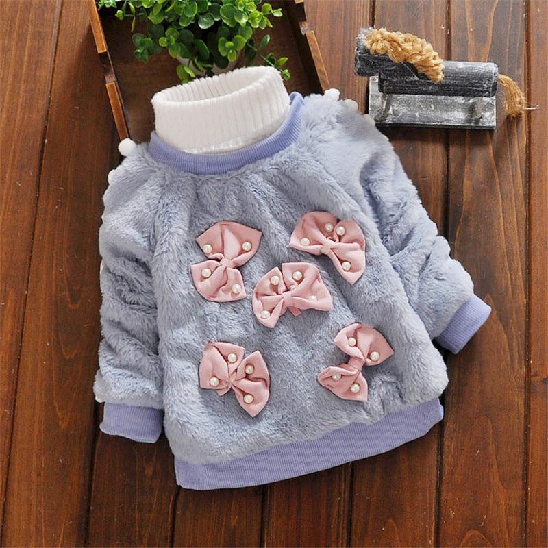 BibiCola Baby Girl Sweater Қысқы балалар Bebe - Балаларға арналған киім - фото 6