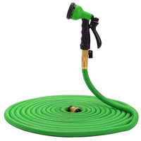 25 100 FT Farden Hose New Expandable Hose, Double Latex Core, 3/4 Solid Brass fittings flexible Extension Hose For garden