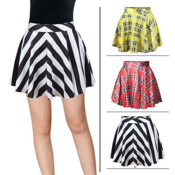 daa86987b Free shipping fashion design Black Milk skater skirt cool print short women  skirts drop shipping
