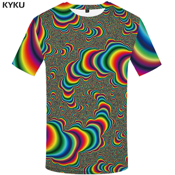 KYKU Hypnosis T Shirt Men Colorful Tshirt Hip Hop Tee Funny T Shirts Dizziness 3d T-shirt Gothic Mens Clothing 2018 Summer Top queen freddie mercury howl t shirt white hip hop novelty t shirts men s brand clothing top tee summer 2017 100