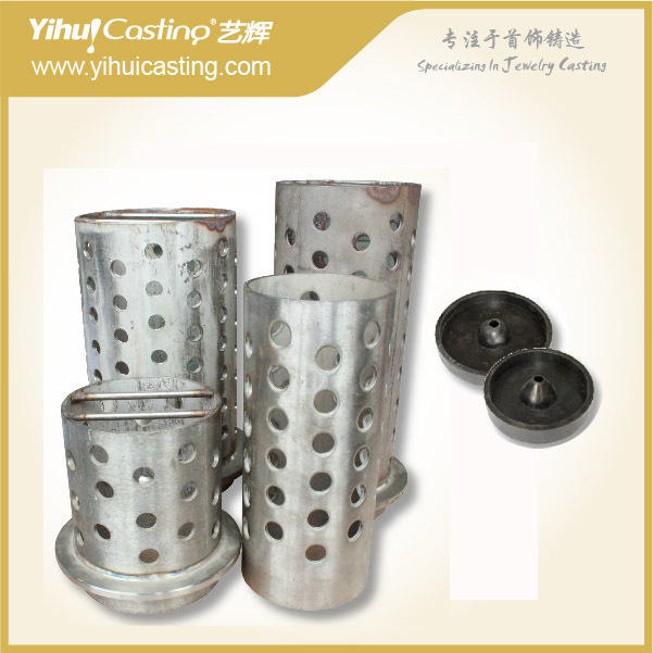 Casting Flask With Rubber Base For Gold, Silver, Brass, Copper, 3.5