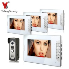 YobangSecurity Video Intercom Monitor 7″ Door Phone Home Security Color Wire 1 Camera 4 Monitor for House/Office/apartment/Hotel