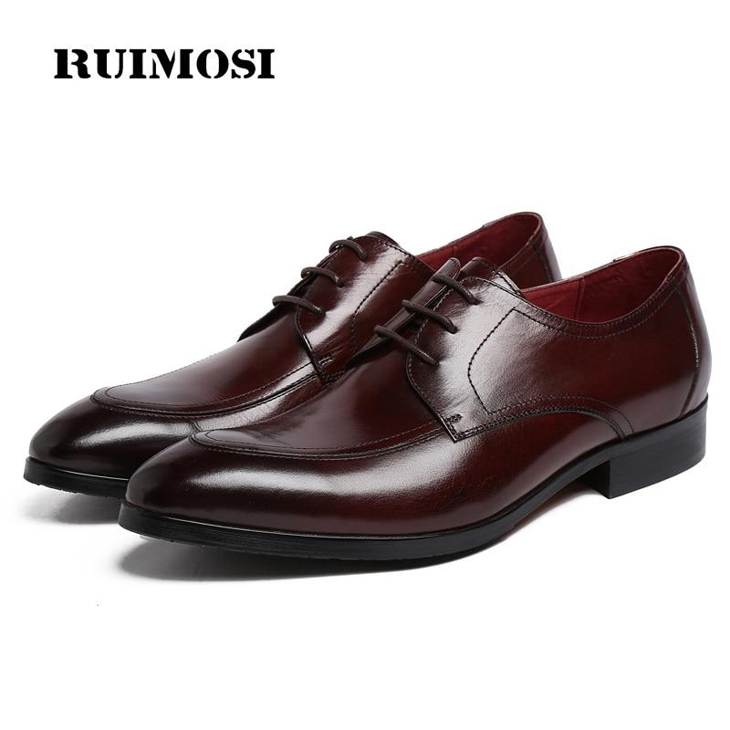 RUIMOSI New Arrival Formal Man Dress Shoes Genuine Leather Male Platform Oxfords Luxury Brand Men's Wedding Bridal Footwear KE94