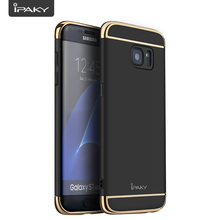 IPAKY 3 In 1 PC Mobile Phone Hybrid Case For Samsung Galaxy S7 Edge Electroplate Bumper Slim Fitted Case For Samsung S7 Edge