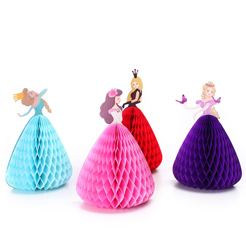 10pcs Greeting Card with Paper Honeycomb Ball Decoration for