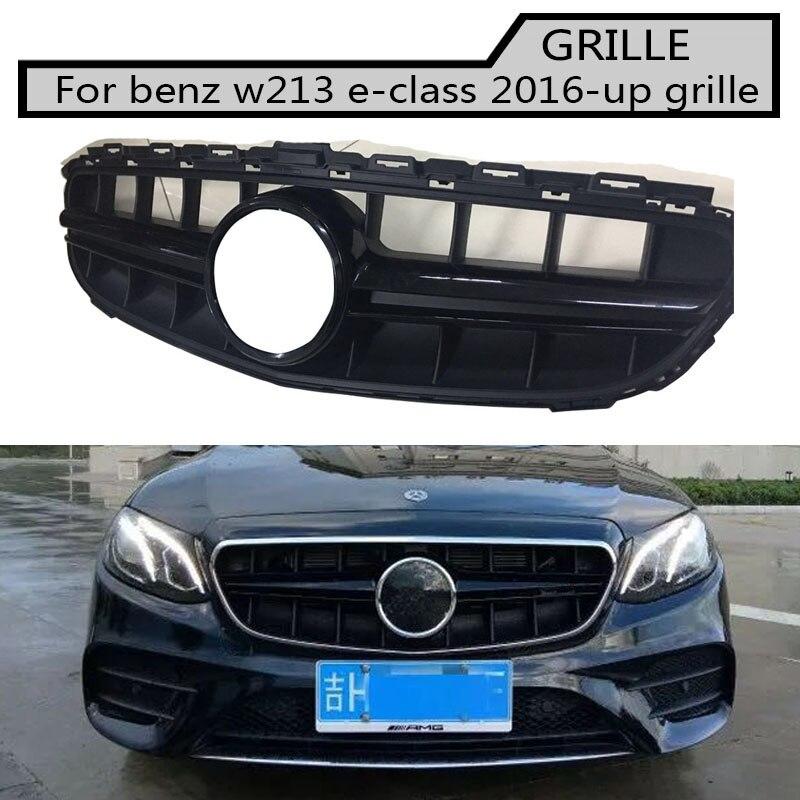 W213 Grille emblème noir pare-choc avant maille style AMG grille de calandre pour benz classe e 2016 ~ 2018