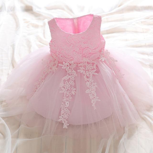 2018 Vintage Baby Girls Princess Tutu Dresses Toddler Bow Tie Flower ...