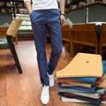 Новый 2017 весна и лето мужская Одежда длинные повседневные брюки Прямые Корейских мужчин тонкий Khaki брюки плюс размер 38