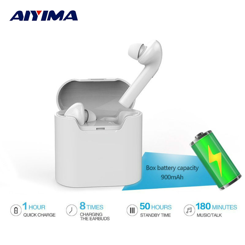 AIYIMA Mini Audifonos Bluetooth 4.2 Earphone Headset Wireless Headphones For Iphone 5/6/6s Iphone 7 Fone De Ouvido Bluetooth ttlife mini bluetooth earphone usb car charger dock wireless car headphones bluetooth headset for iphone airpod fone de ouvido