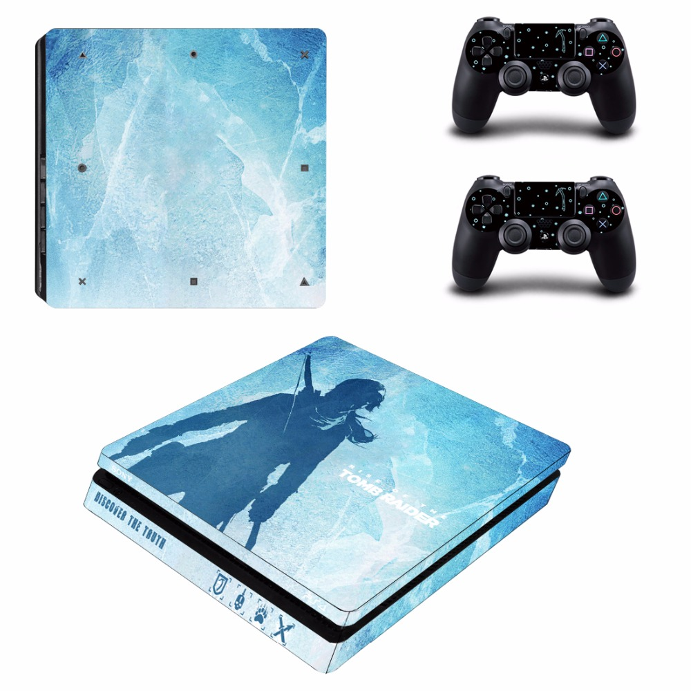 Buy Rise Of Tomb Raider Ps4 Slim Skin Sticker Decal Sony The For Playstation 4 Console And 2 Controller Skins Vinyl From Reliable