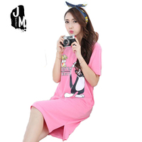 2017 New Arrival Liva Girl Short Character Above Knee Mini Round Neck Spring None Nightgowns Sleepshirts