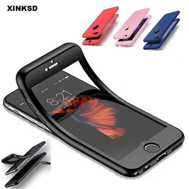 360 Degrees Full Cover Case For IPhone XR XS MAX X 8 Plus 7 6 6S Plus 5S SE Silicone Cases Front Back Protection TPU Coque Capa