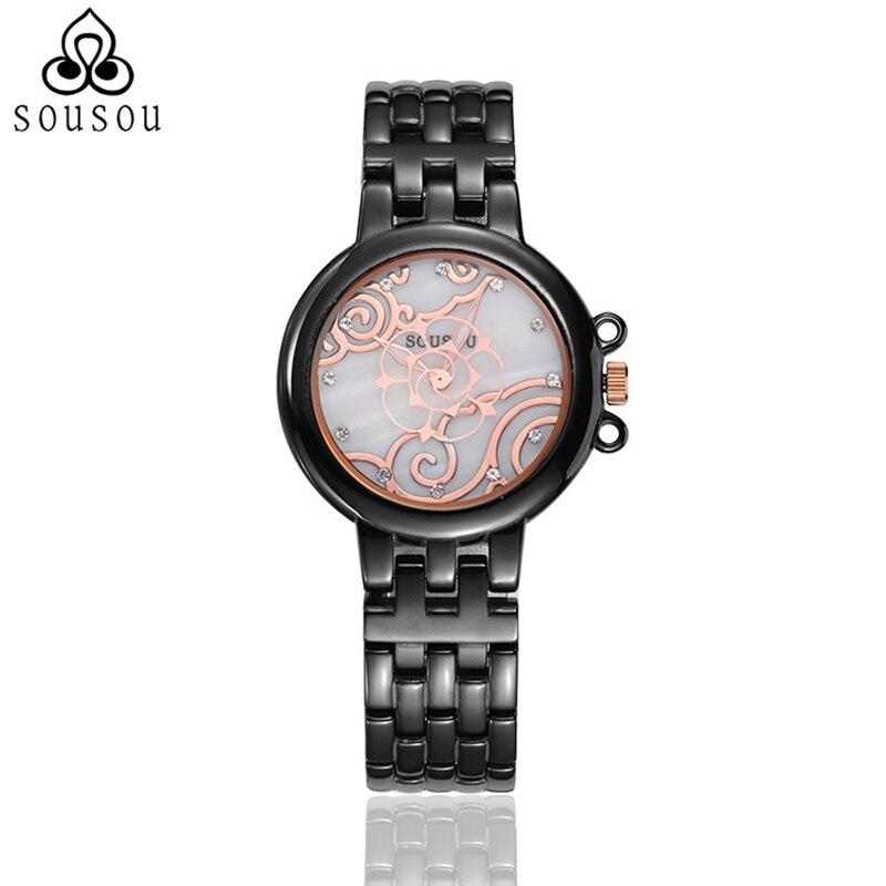 2016 Montre Femme Brand Dames Horloge Women Designer Ladies Black/White Ceramic Watches For Women Relojes De Marca mance ladies brand designer watches